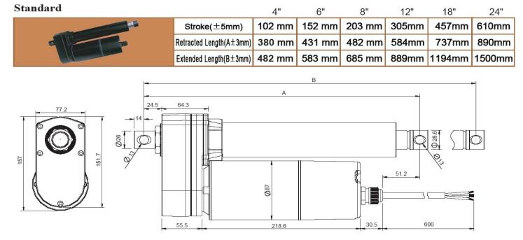 Standard VIA5 Ball Screw Actuator